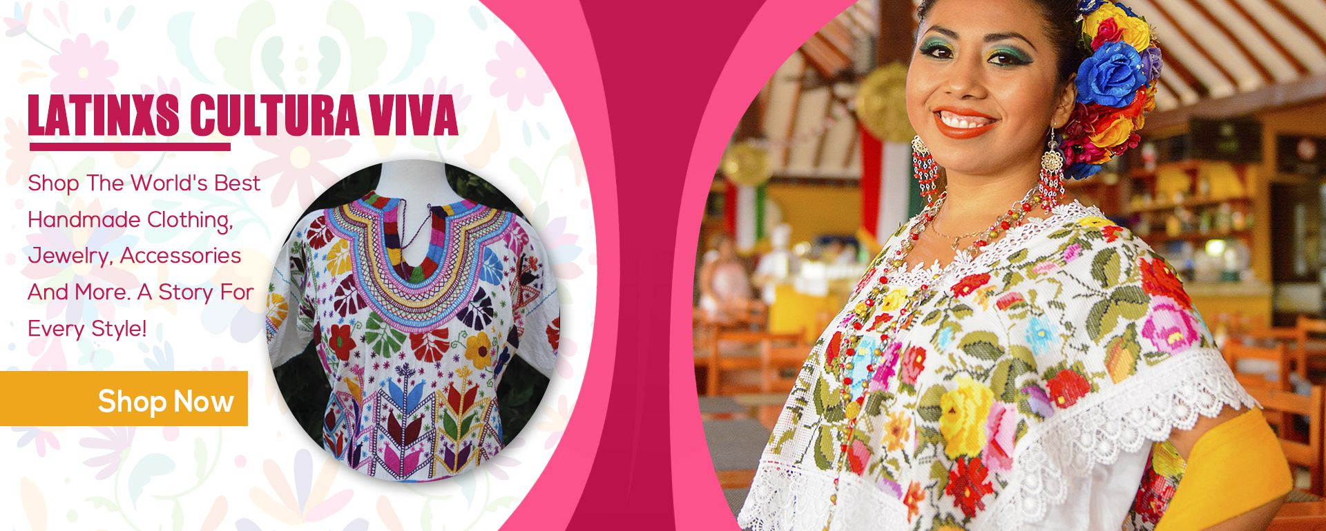 Mexican  Embroidered Dresses
