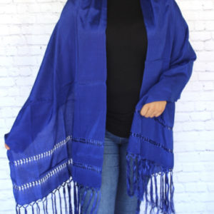 Blue Mexican Rebozo