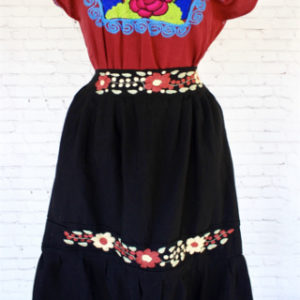 Black Mexican Skirt