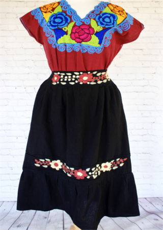 Black Mexican Skirt