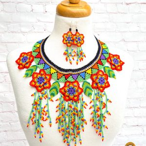 Floral Mexican Necklace Set