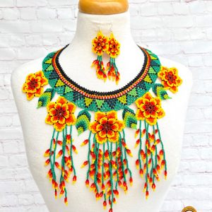 Colorful Mexican Necklace Set