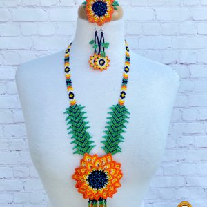 Mexican Beaded Huichol Necklace