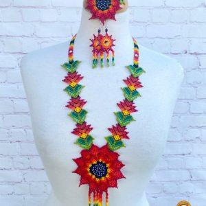 Beaded Handmade Huichol Necklace
