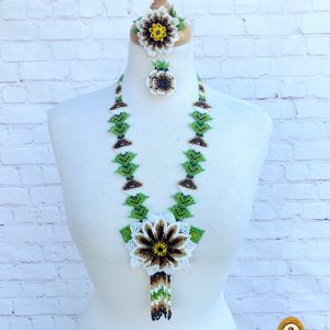 Mexican Beaded Necklace Set