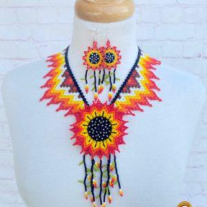 Mexican Huichol Necklace