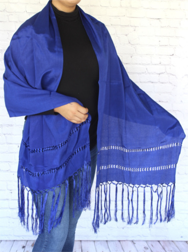 Blue Mexican Rebozo