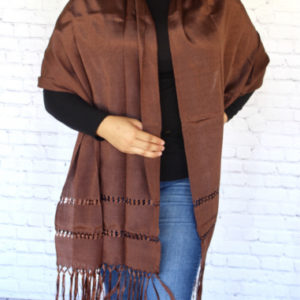 Brown Mexican Rebozo