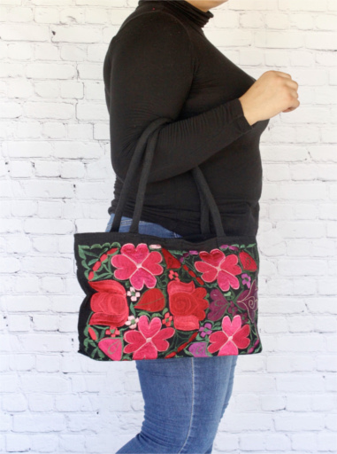 Embroidered Tote Mexican Bag