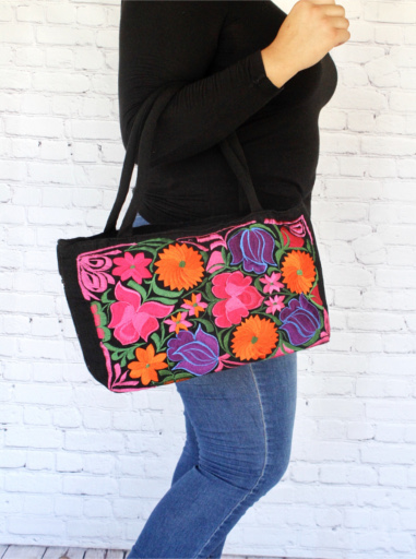 Small Embroidered Mexican Bag