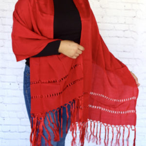 Red Mexican Rebozo