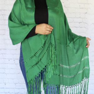 Green Mexican Rebozo
