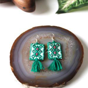 Green Mexican Earrings