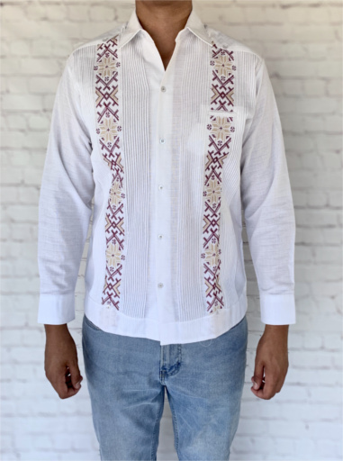 Embroidered Mexican Guayabera