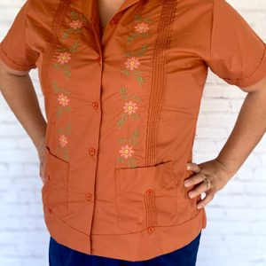 Embroidered Guayabera Yucateca