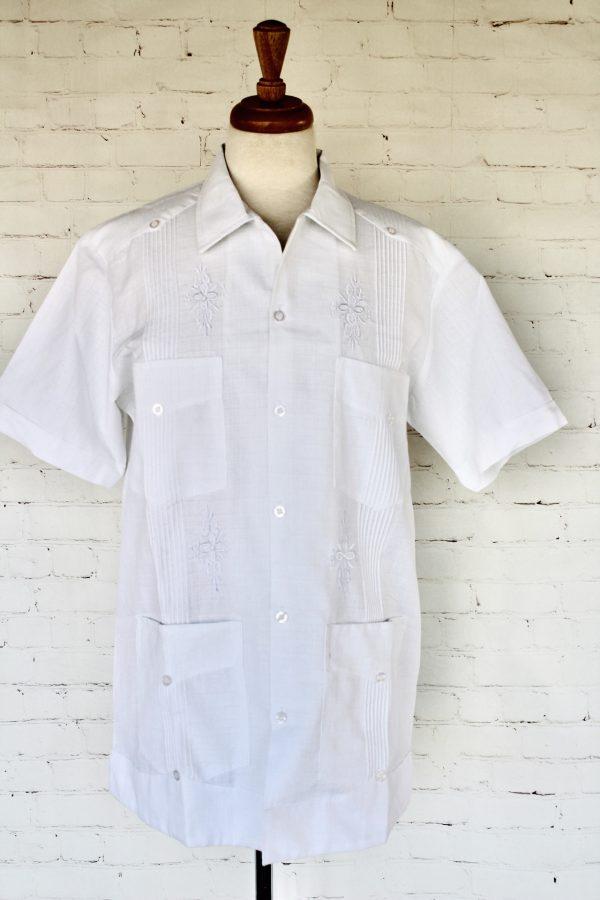 Yucateca White Guayabera Shirt