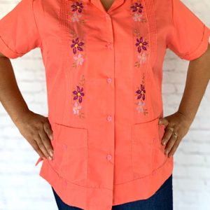 Mexican Embroidered Guayabera Shirt