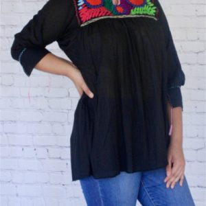 3/4 Sleeve Mexican Blouse
