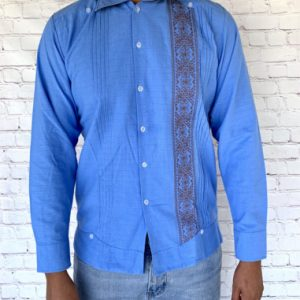 Light Blue Mexican Guayabera