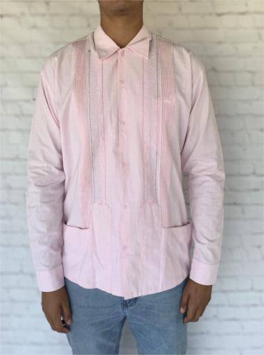 Pink Mexican Guayabera