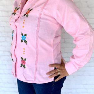 Mexican Pink Guayabera Shirt