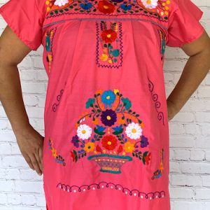 Pink Mexican Peasant Dress