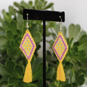 Yellow Mexican Earrings