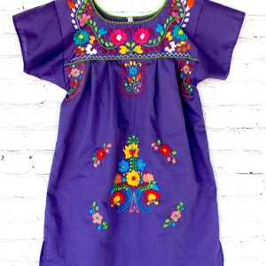 Embroidered Purple Dress fot Girl