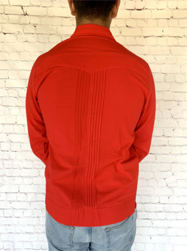 Red Mexican Guayabera