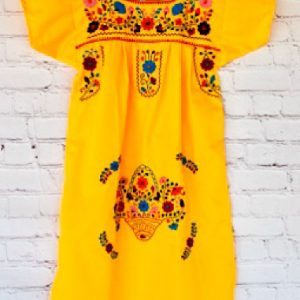 Yellow Mexican Dress For Girl