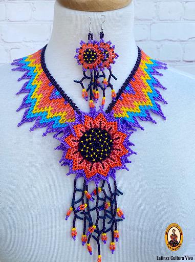 Multicolor Mexican Beaded Necklace