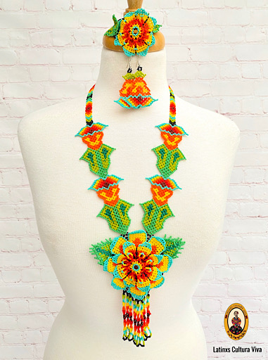 Long Beaded Huichol Necklace