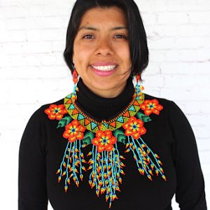 Bright Mexican Necklace Set