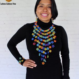 Beaded Long Huichol Necklace