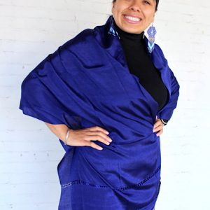 Navy Blue Mexican Rebozo
