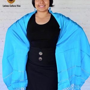 Light Blue Mexican Rebozo