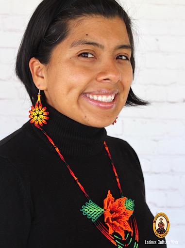 Beaded Flower Huichol Necklace