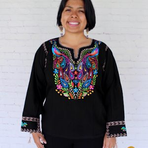 Peacock Mexican Blouse