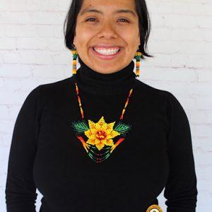 Yellow Beaded Huichol Necklace