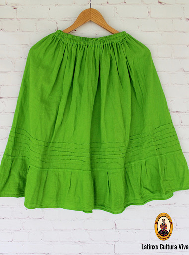 Green Mexican Skirt