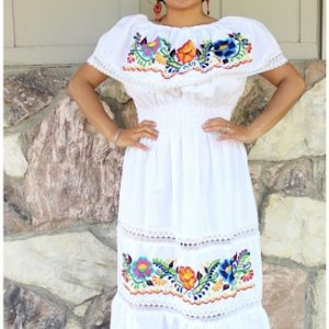 Embroidered Fiesta Dress
