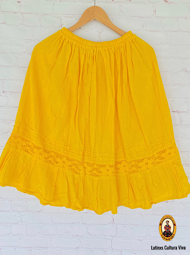 Yellow Mexican Skirt