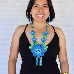 Flower Beaded Mexican Necklace
