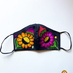Flashy Flowers Face Mask