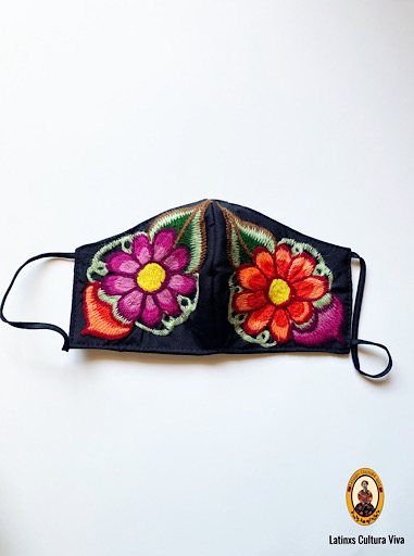 Colorful Flowers Face Mask