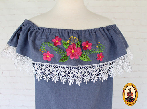 Mexican Fiesta Embroidered Dress