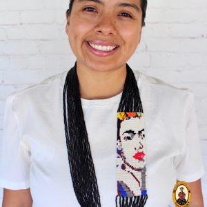 Black Beaded Frida Necklace