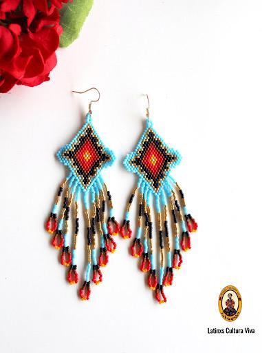 Native Mexican Beaded Earrings