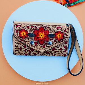 Flowers Leather Wallet
