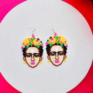 Frida Kahlo Beaded Earrings